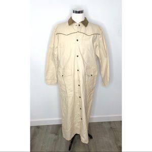 Vintage American West Old West Duster Canvas XS